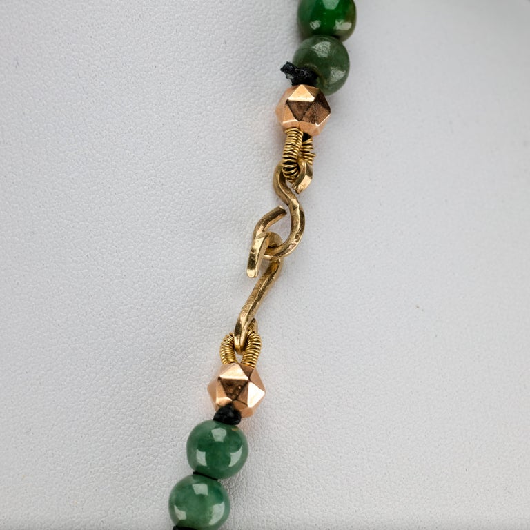 Jade Necklace Untreated Handmade Ruggedly Unique For Sale 7
