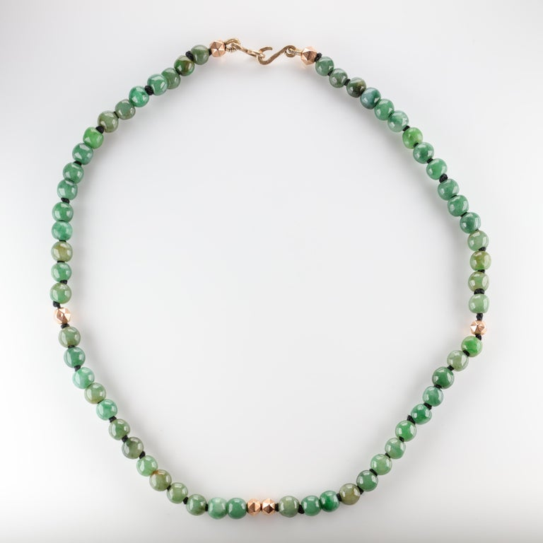 Jade Necklace Untreated Handmade Ruggedly Unique For Sale 8
