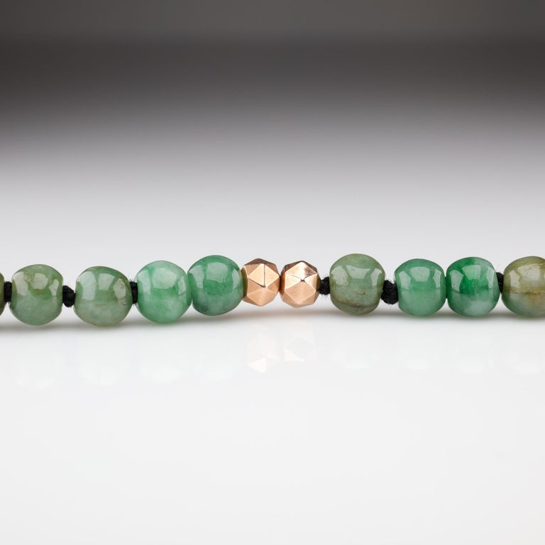 Jade Necklace Untreated Handmade Ruggedly Unique For Sale 1