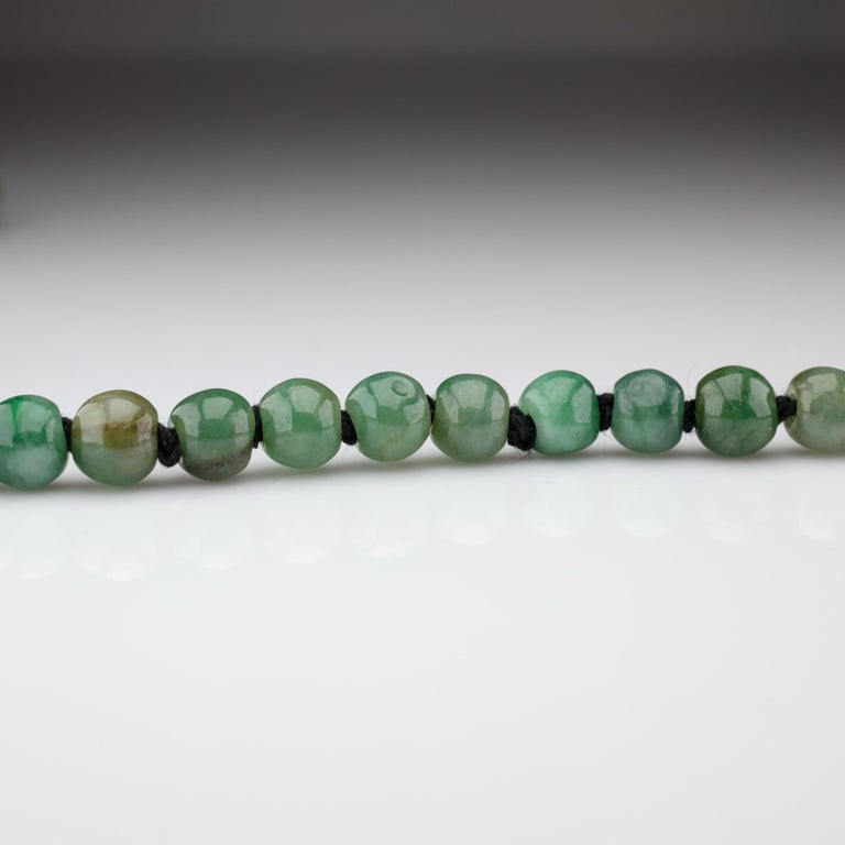 Jade Necklace Untreated Handmade Ruggedly Unique For Sale 2