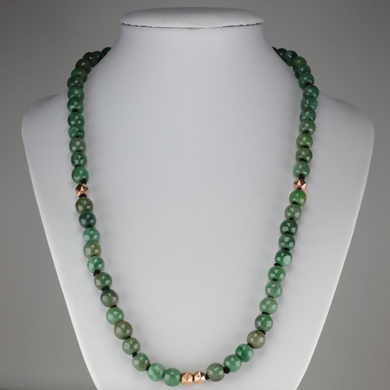Jade Necklace Untreated Handmade Ruggedly Unique For Sale 4