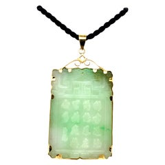 Jade Necklace with 14K Gold