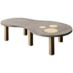 Jade Oblong Oak Coffee Table by Chiara Provasi