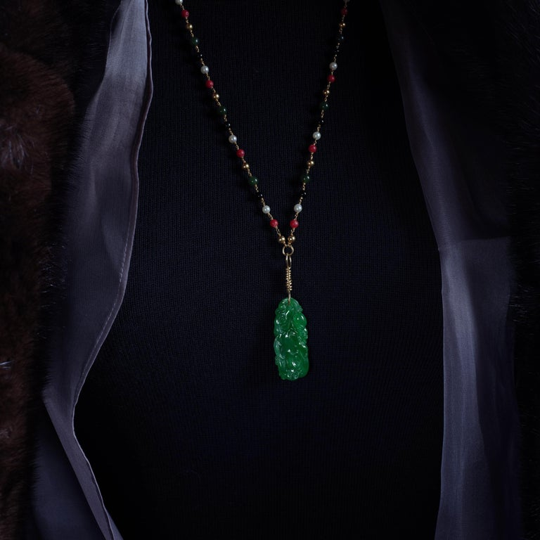 Imperial Jade Pendant as Seen in The New York Times and Town & Country For Sale 14
