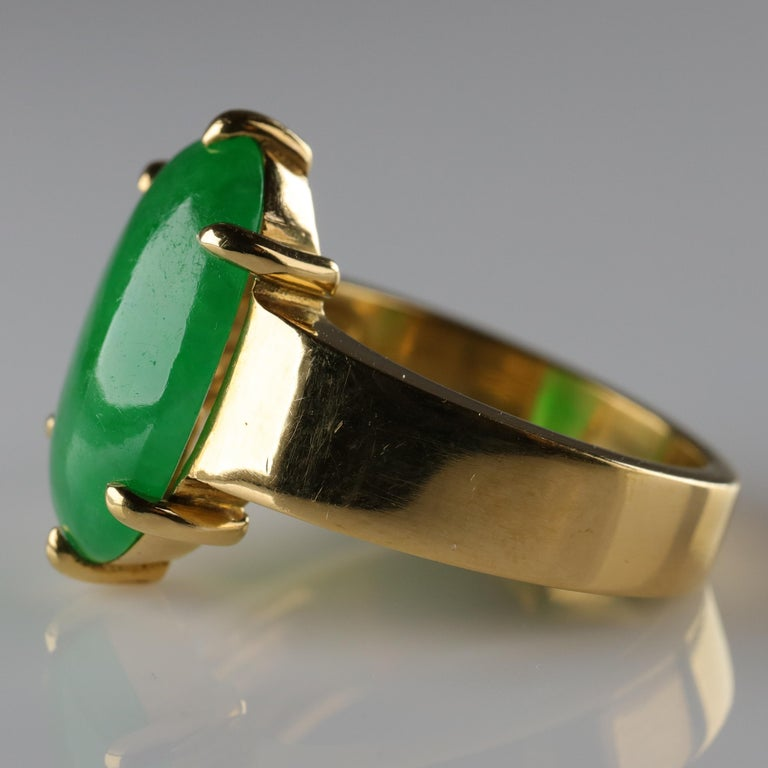 Jade Ring as Featured in the New York Times and Town & Country Magazine For Sale 5