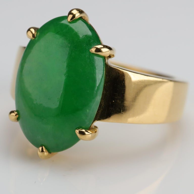 Contemporary Jade Ring as Featured in the New York Times and Town & Country Magazine For Sale