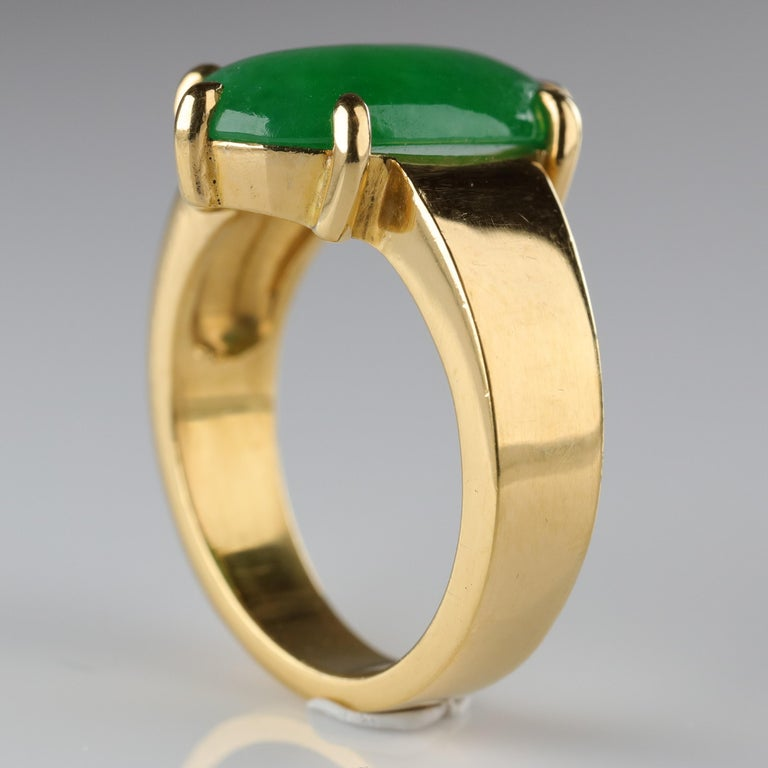 Jade Ring as Featured in the New York Times and Town & Country Magazine For Sale 1