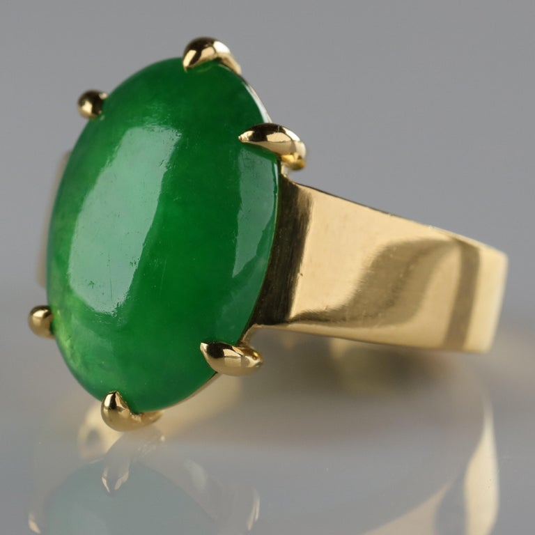 Jade Ring as Featured in the New York Times and Town & Country Magazine For Sale 2