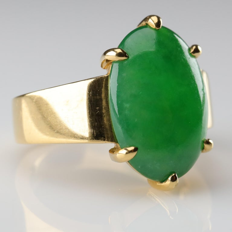 Jade Ring as Featured in the New York Times and Town & Country Magazine For Sale 3