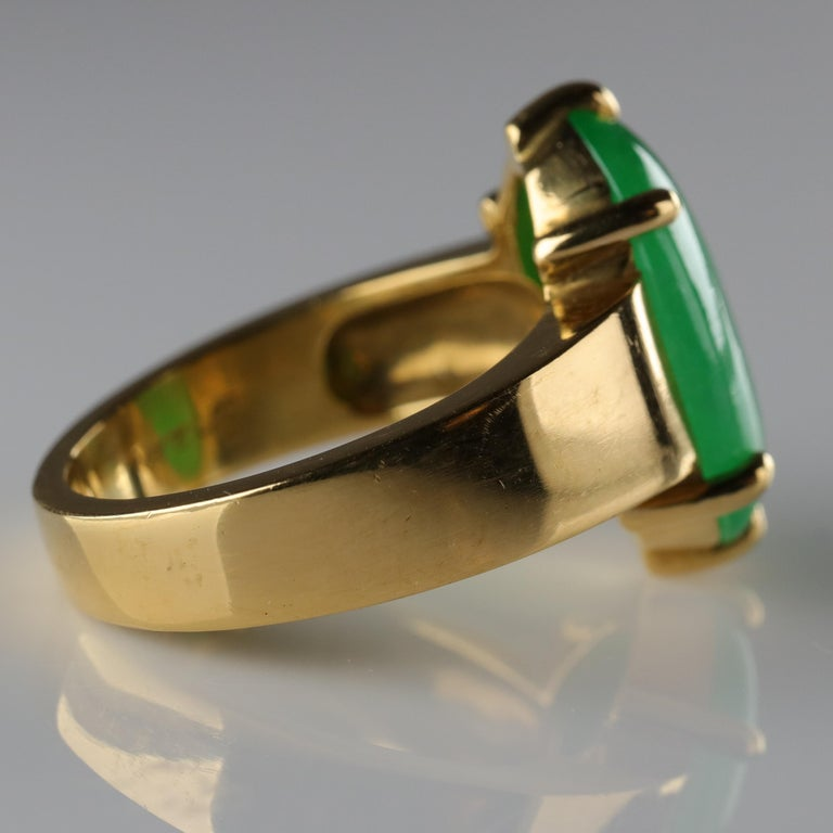 Jade Ring as Featured in the New York Times and Town & Country Magazine For Sale 4