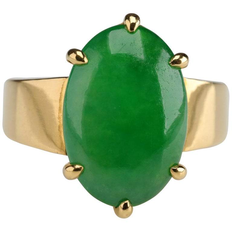 Jade Ring as Featured in the New York Times and Town & Country Magazine For Sale