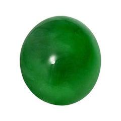 Jade Ring Gem 6.19 Carat Oval Cabochon Loose Gemstone