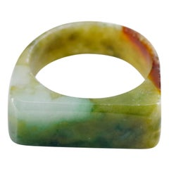 Jade Ring Hand Carved Antique from China