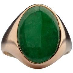 Jade Ring in Rose Gold, circa 1940s