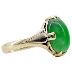 Jade Ring is Exquisite Japanese Art Deco Masterpiece