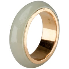 Jade Ring Lined with Gold