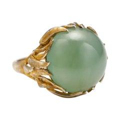 Jade Ring Midcentury Watery Sage Green Certified Untreated