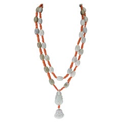 Jade Sciacca Coral Long Necklace 18 Karat Gold