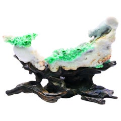 Jadeite Decoration, Titled Survival of the Fittest 1930s, Important Collection