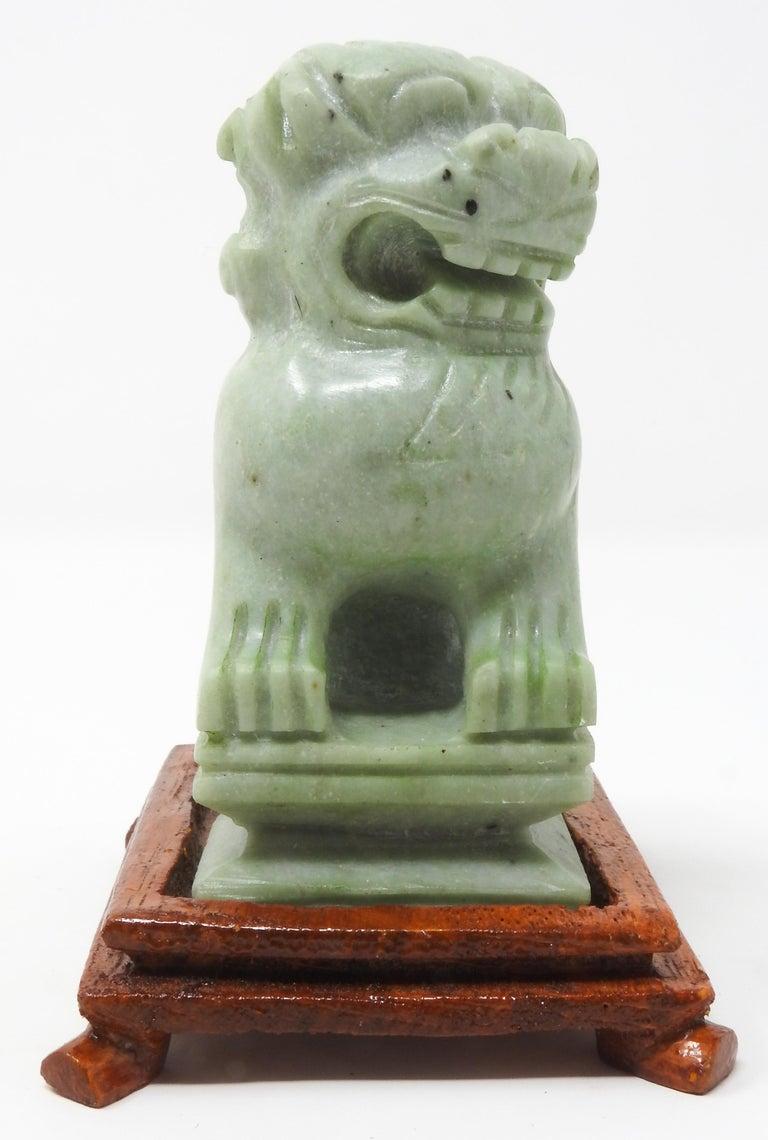Jadeite Guardian Foo Dogs, Mid-20th Century For Sale 3
