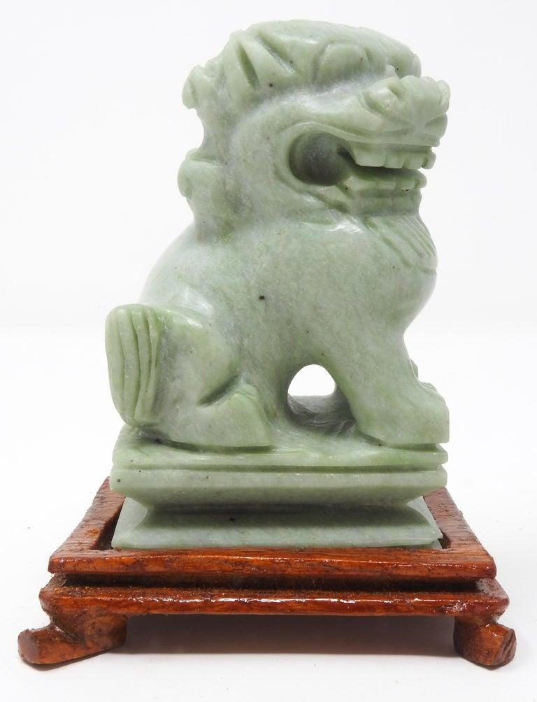 Jadeite Guardian Foo Dogs, Mid-20th Century For Sale 4