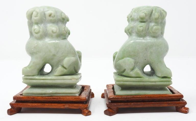 Jadeite Guardian Foo Dogs, Mid-20th Century For Sale 1