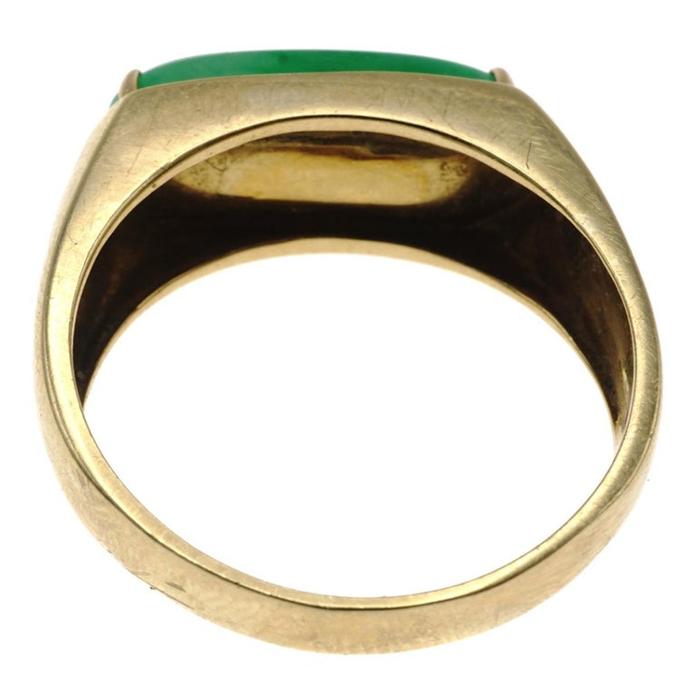 Women's Jadeite Jade and Gold Ring For Sale