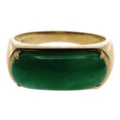 Jadeite Jade and Gold Ring