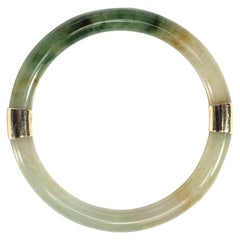 Jadeite Jade Bangle Glassy and Fine Certified Untreated