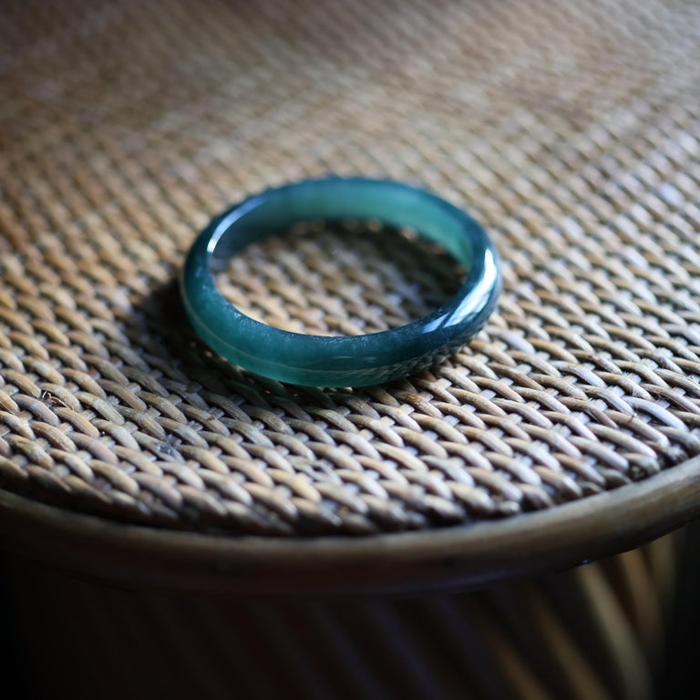 Jadeite Jade Bangle Small, Medium Certified Untreated For Sale 6