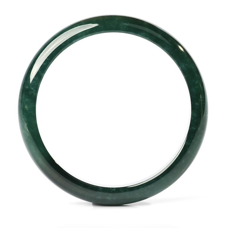 Artisan Jadeite Jade Bangle Small, Medium Certified Untreated For Sale