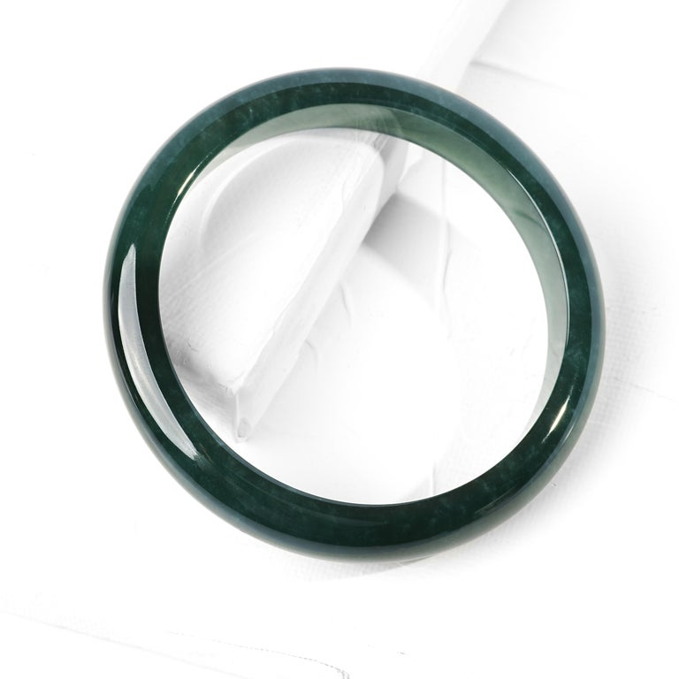 Jadeite Jade Bangle Small, Medium Certified Untreated For Sale 1