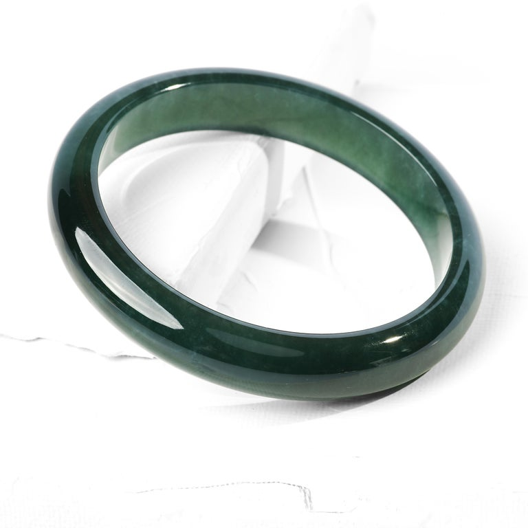 Jadeite Jade Bangle Small, Medium Certified Untreated For Sale 2