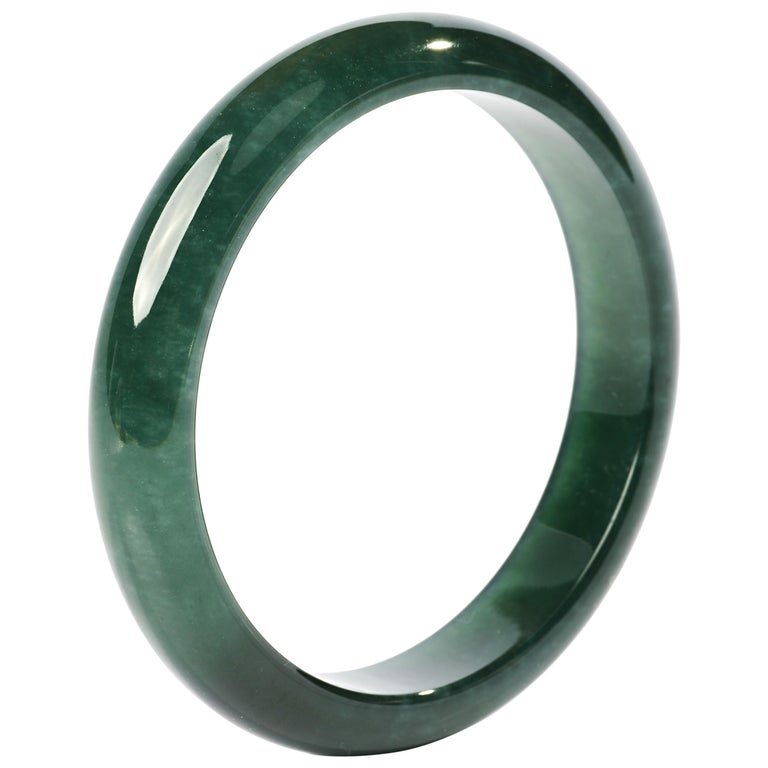 Jadeite Jade Bangle Small, Medium Certified Untreated For Sale