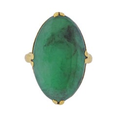 Jadeite Jade Gold Ring
