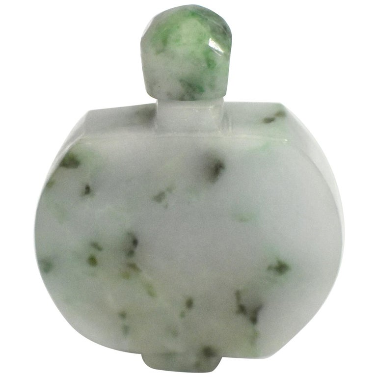 Jadeite Jade Snuff Bottle All Natural For Sale