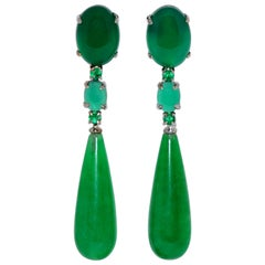 Emerald Chandelier Earrings