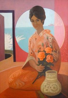 The Japanese, 1970. Oil on canvas, 100x70 cm