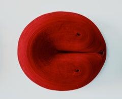 JK 383 Red - abstract geometric art sculpture