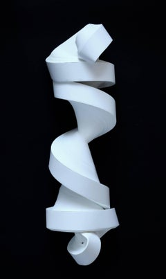 JK782 white- geometric abstract wall sculpture