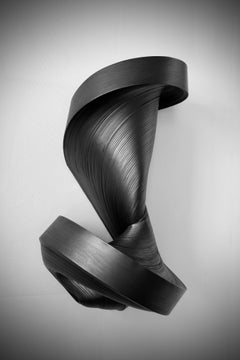 JK784 black- geometric abstract wall sculpture