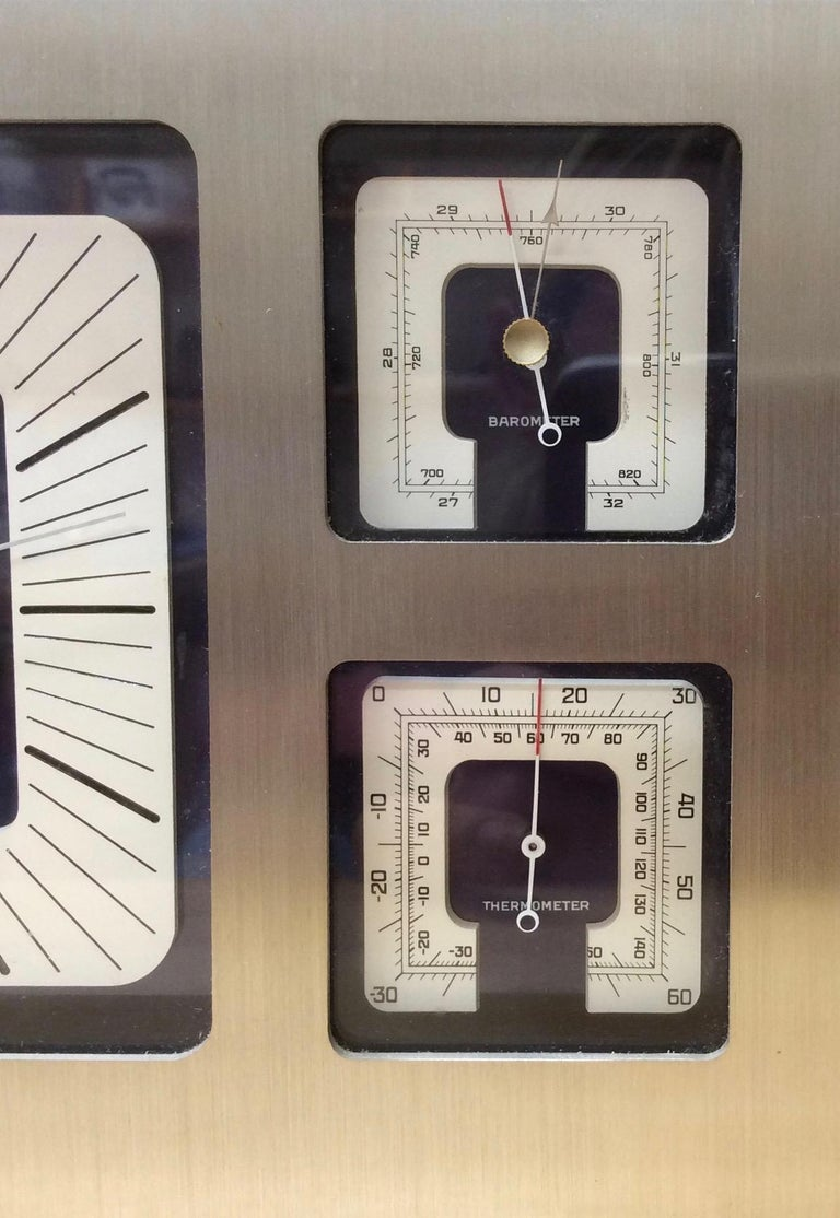Other Jaeger-LeCoultre Brushed Steel Weather Station For Sale