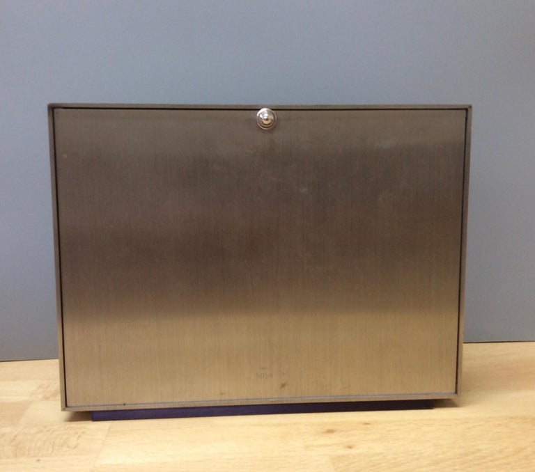 Jaeger-LeCoultre Brushed Steel Weather Station In Good Condition For Sale In Norwich, GB