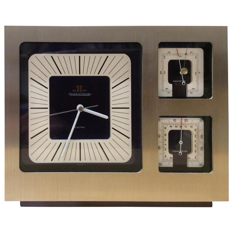 Jaeger-LeCoultre Brushed Steel Weather Station For Sale