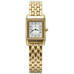 Jaeger Le-Coultre CPO Reverso 18 Karat Yellow Gold and Diamonds