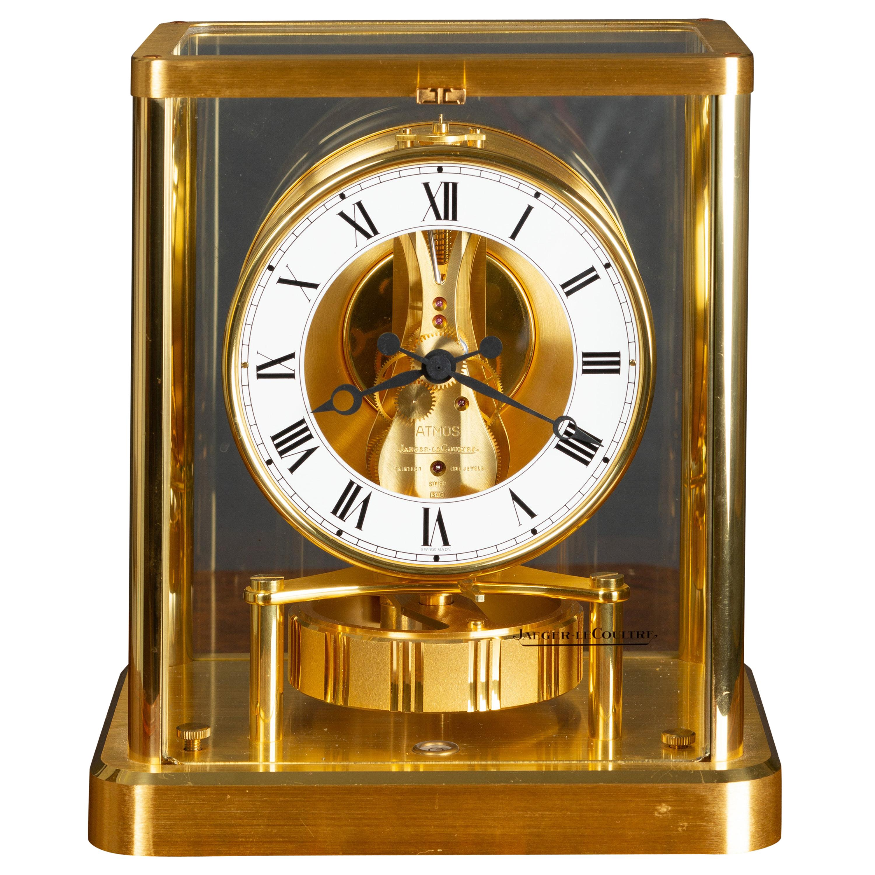 Jaeger LeCoultre Gold-Plated Atmos Clock