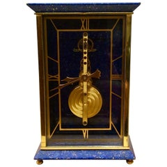 Jaeger-LeCoultre Miniature Lapis Lazuli Mantel Clock