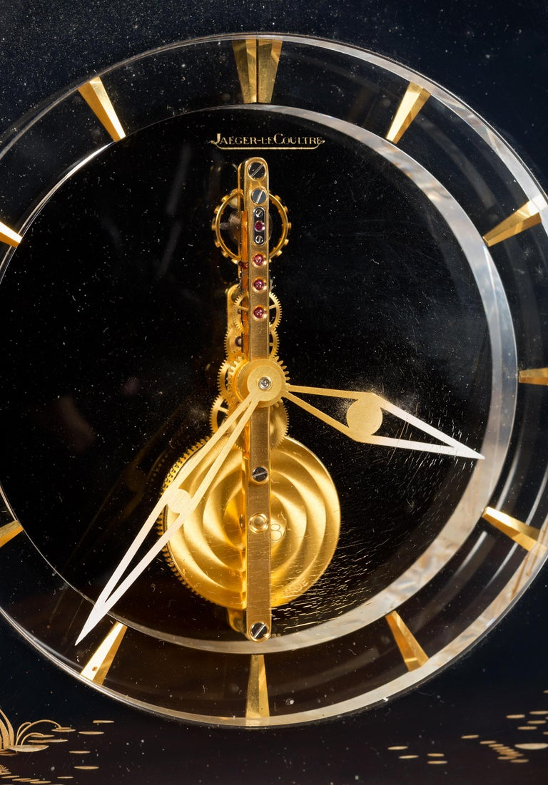 Swiss Jaeger-LeCoultre Mystery Mantel Clock For Sale