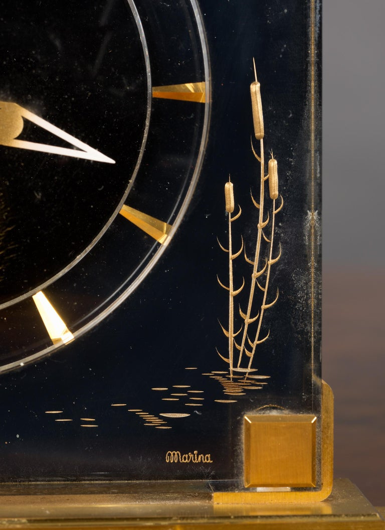 Jaeger-LeCoultre Mystery Mantel Clock In Good Condition For Sale In Norwich, GB