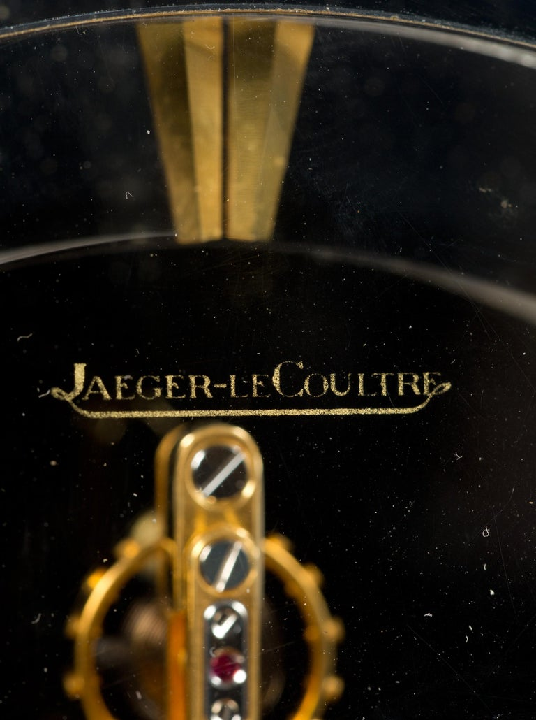 Mid-20th Century Jaeger-LeCoultre Mystery Mantel Clock For Sale